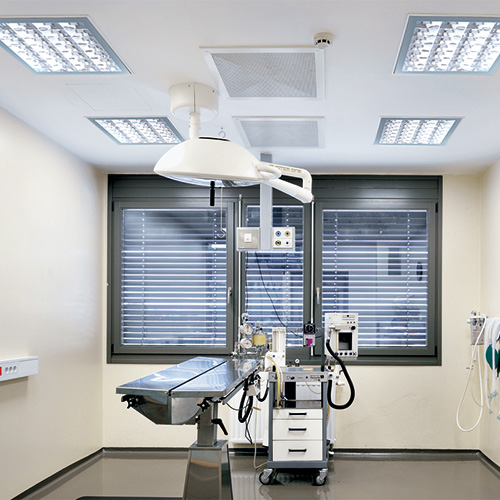 Hospital/schools, Luminaires for hospitals and healthcare facilities